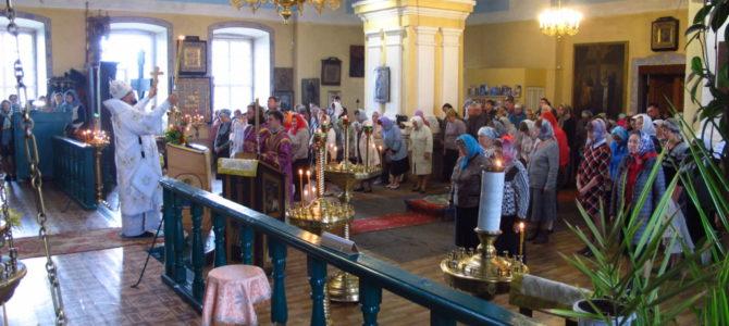 Неделя 10-ая по Пятидесятнице. Божественная литургия в Преображенском соборе города Солигалич