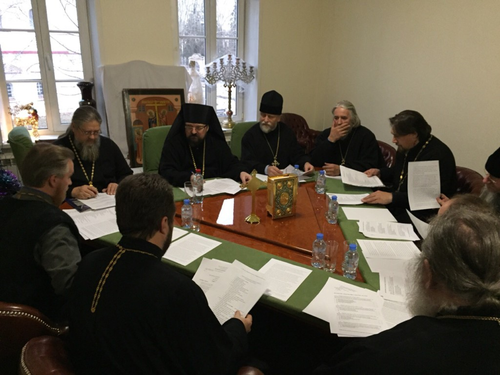 В здании епархиального управления прошло расширенное заседание епархиального совета