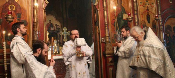 Навечерие Богоявления Господня в Свято-Покровском Авраамиево-Городецком мужском монастыре