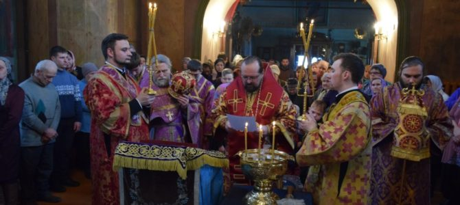 Неделя 3-я Великого поста, Крестопоклонная. Божественная литургия в Успенском соборе г.Чухлома