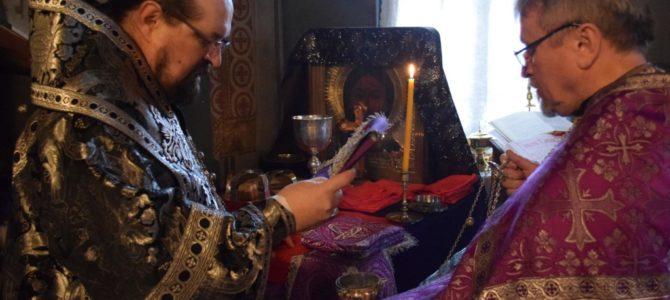Архипастырь совершил литургию Преждеосвященных Даров в Введенском соборе г.Галича