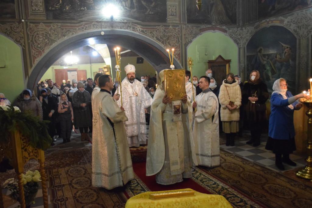 Рождество Христово в Христорождественском соборе города Макарьева
