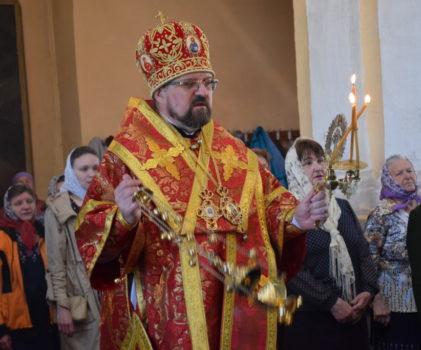 Радоница. Архиерейское богослужение в Преображенском соборе г.Солигалич